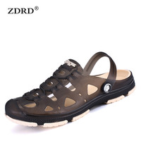 Fashion Summer Men slippers Breathable beach sandals croc male shoes Hollow out of the drag men versa shoes sandals for summer