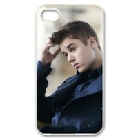 Cool Justin Bieber Custom Case for iPhone 4 4s Hard Cover Fits Case iPhone 4s...