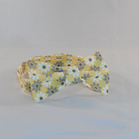 Yellow and Gray Flower Pattern Boy's Bowtie