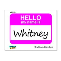 Whitney Hello My Name Is Sticker