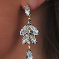 Blooming Crystal Earrings