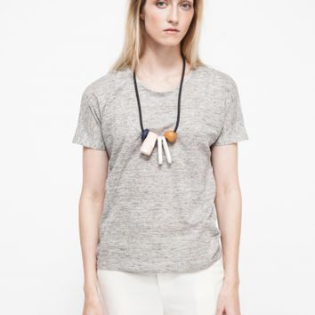 Objects Without Meaning Basia Tee in Platinum