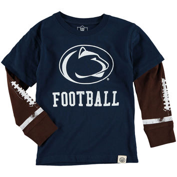 Penn State Nittany Lions Wes & Willy Infant Football Fooler Long Sleeve T-Shirt - Navy