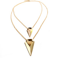 """Get The Point"" Multilayer Gold Chain Necklace"
