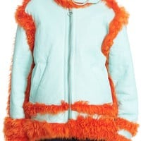 Marques'Almeida 'Inside Out' Vinyl Coated Genuine Shearling Jacket   Nordstrom