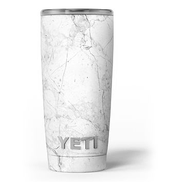 Cracked Marble Surface - Skin Decal Vinyl Wrap Kit compatible with the Yeti Rambler Cooler Tumbler Cups