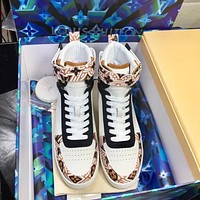lv louis vuitton men fashion boots fashionable casual leather breathable sneakers running shoes 517