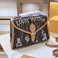 Louis Vuitton LV briefcase fashion trend portable shoulder bag