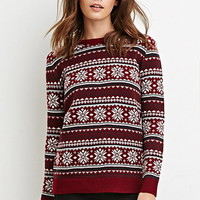 Snowflake Patterned Sweater