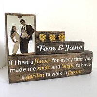 Wedding shower gift, unique wedding gift for couple, rustic wedding decor, guestbook sign, sweetheart table, wedding accesories, floral sign
