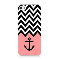 S9Q Anchor Chevron Retro Vintage Tribal Nebula Pattern Hard Case Cover Back Skin Protector For Apple iPhone 5C Style E Bow Bowknot Pink