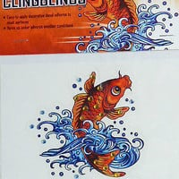 ClingBlings Ed Hardy by Christian Audigier Koi Fish in Water&Ed Harley Name-New
