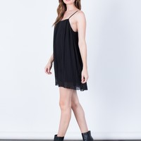 Pleated Cami Tunic Dress