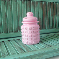 Pink Shabby Chic Style Glass Salt and Pepper Shakers Sugar Bowl Distressed Farm Table Setting Kitchen Decor Picnics Outdoor Fun