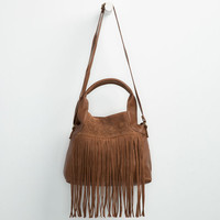 T-Shirt & Jeans Chelsea Fringe Crossbody Bag Cognac One Size For Women 25528040901