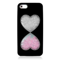 Double Hearts Dancing Diamond Case for iPhone