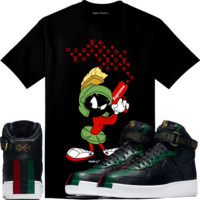 2018 BHM - Air Force Ones 1 Sneaker Tees Shirt - MARVIN LV