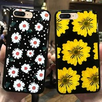 YonLinTan i luxury 3d flower phone back copy,capinha,coque,case,cover for apple iphone 8 plus 8plus silicone silicon glitter