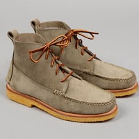 rancourt co - the grey boot 5 eyelet suede moccasin boot grey hickorees exclusive