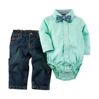 Carter's® 2-pc. Plaid Top & Jeans Set - Baby 0-12 Mos. | Stage Stores