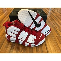 Air more uptempo Red White Basketball Shoes 40-47