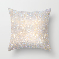 Glimmer of Light II (Ombré Glitter Abstract*) Throw Pillow by soaring anchor designs ⚓   Society6