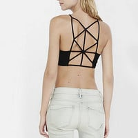 Black Express One Eleven Lattice Back Bralette from EXPRESS