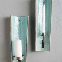Alcove Candle Holder by Anthropologie in Turquoise Size: