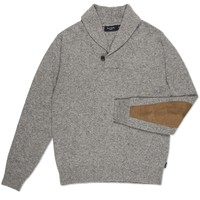 Paul Smith Men's Jumpers | Grey Marl Shawl Neck Sweater