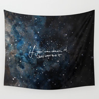You can do it Wall Tapestry by Betul Donmez