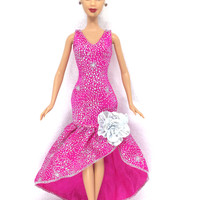 NK Free Shipping Newest Original Doll Clothes Beautiful Handmade Party Outfit Fashion Dress For Barbie Original Doll Baby Toys