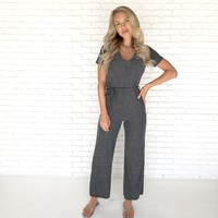 Always in Love Grey Jumpsuit