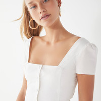 I.AM.GIA Ankaa Square-Neck Cropped Top | Urban Outfitters