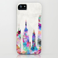 New York iPhone & iPod Case by Mareike Böhmer Graphics