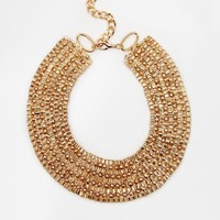 Flocary Metal Collar Necklace