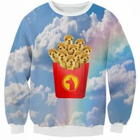 New Spring Autumn Crewneck Llama Fries Sweatshirt Sky Camel 3D Print Hoodie Girl Pink Blue Sky Pullover Hip Hop Jumper Outfits