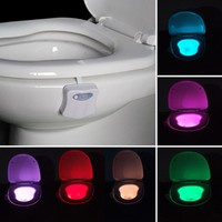 VANJING 8 Colors LED Motion Sensor Activated Bathroom Lamps Toilet Bowl Night Lights