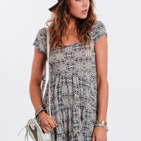 Face The Music Printed Dress