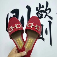 Ferragamo Women Casual Shoes Boots fashionable casual leather Women Heels Sandal Shoes created