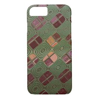 Green Swirls and Earth Tones iPhone 7 Case