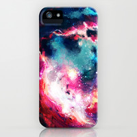 Space Oyster iPhone & iPod Case by Vic (aka Halorvic)