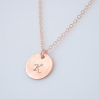 Disk Initial Necklace