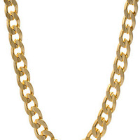 King Ice 8mm Yellow Gold Cuban Curb Chain