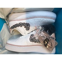 Nike Air Force 1 Doernbecher embroidered floral hook low-top sneakers shoes