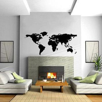 Wall Vinyl Decal  World Map Art Sticker Unique Gift (m017)