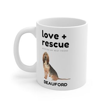 love + rescue Mug — Blood Hound