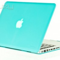 """Kuzy - 15-inch Teal / Turquoise Hot BLUE Rubberized Hard Case Cover for MacBook Pro15.4"""" (A1286) Glossy Display - Teal"""