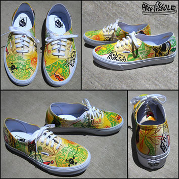 Snake Eyes Custom Hand Painted Vans Authentic Shoes