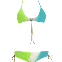 Ombre Sassy Gal in Aqua and Lime: Buy Beauty & The Beach