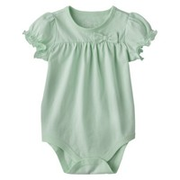 Circo® Newborn Infant Girls' Short-sleeve Solid Bodysuit -
